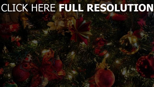 hd hintergrundbilder girlande neues jahr spielzeug baum feiertag weihnachten