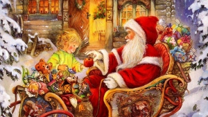 baby geschenke schlitten weihnachtsmann apfel feiertag weihnachten