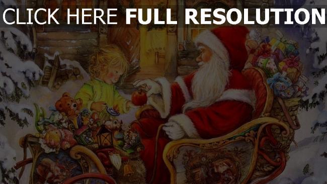 hd hintergrundbilder baby geschenke schlitten weihnachtsmann apfel feiertag weihnachten