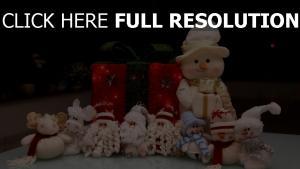 weihnachten weihnachtsmann feiertags neues jahr schneemänner geschenke spielzeug