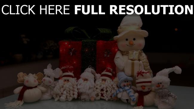 hd hintergrundbilder weihnachten weihnachtsmann feiertags neues jahr schneemänner geschenke spielzeug