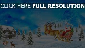 weihnachten ren neues jahr weihnachtsmann geschenke