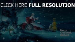 weihnachtsmann nacht weihnachten neujahr schneesturm geschenke inschrift
