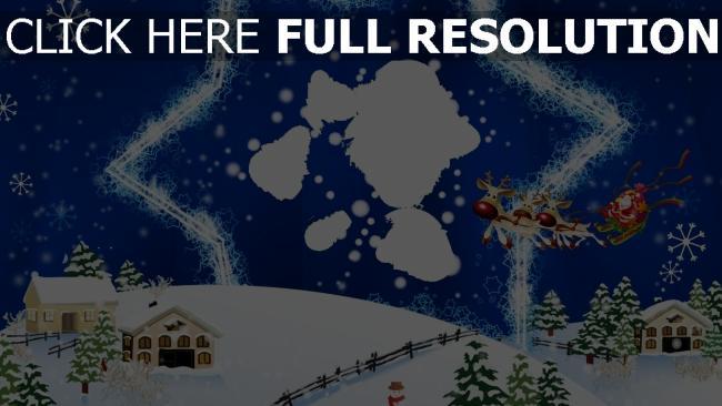hd hintergrundbilder karte rentier weihnachten neujahr stern weihnachtsmann bunt fliegen