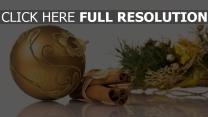 gewinde zimt ball weihnachten spielzeug nadeln