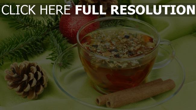 hd hintergrundbilder tasse zweig zimt tee kegel tanne weihnachten kugel neues jahr