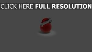 hut attribute ball weihnachten spielzeug rot feiertag weihnachten