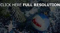 kugel ornament neujahr weihnachten pelz-baum dunkelblau schnee