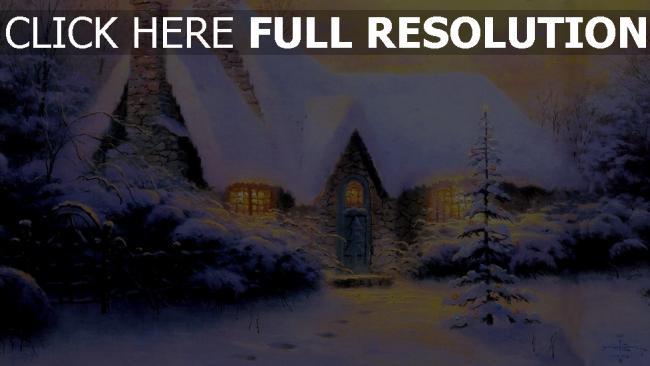 hd hintergrundbilder haus schnee neues jahr weihnachten pelz-baum winter stein licht