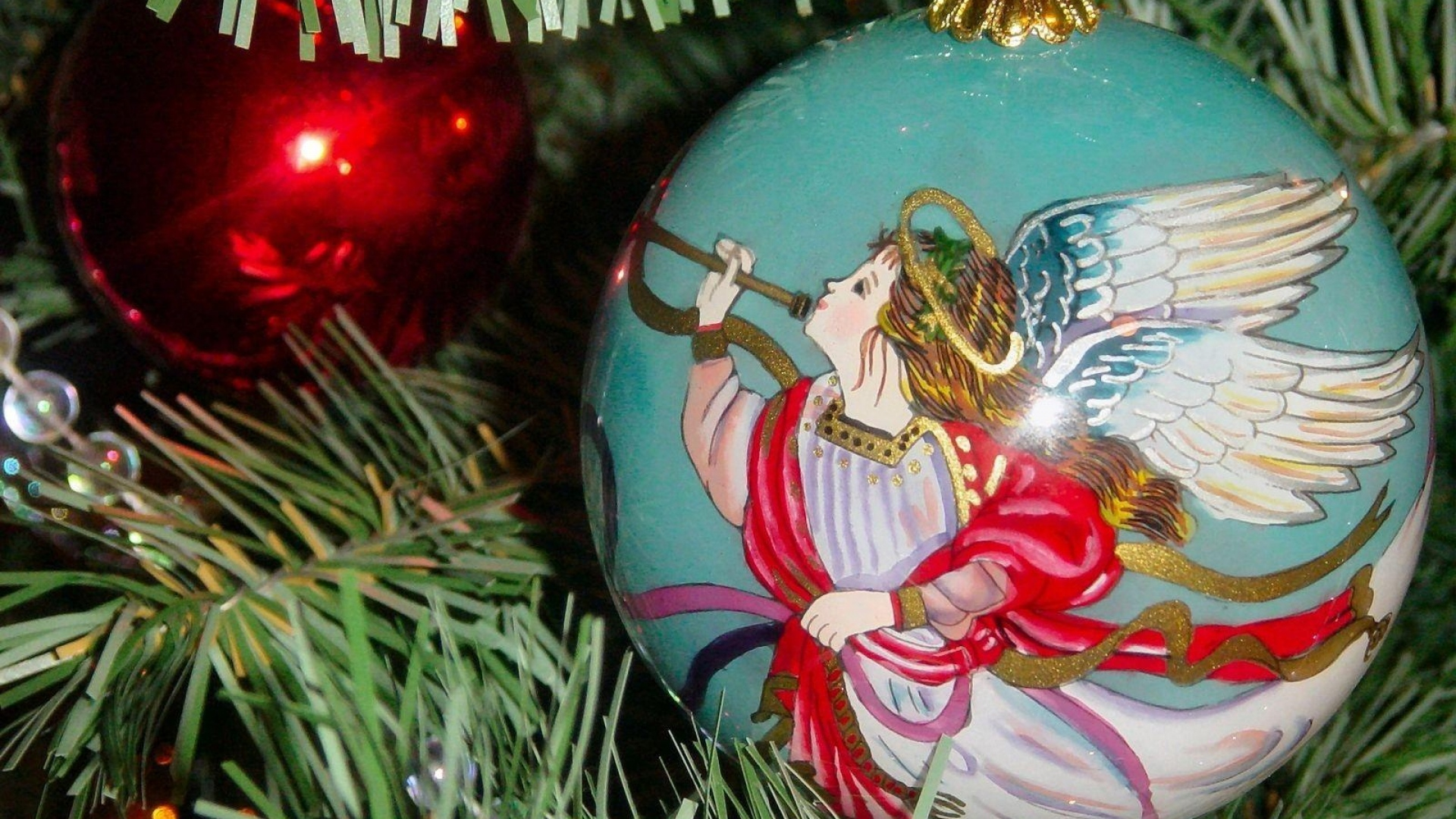 hd hintergrundbilder engel close-up ballon weihnachtsschmuck baum weihnachten 1920x1080