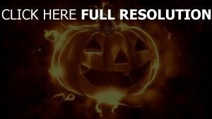 sepia jack-o-latern halloween lächeln