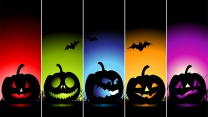 emotionen jack-o-latern farben minimalismus halloween