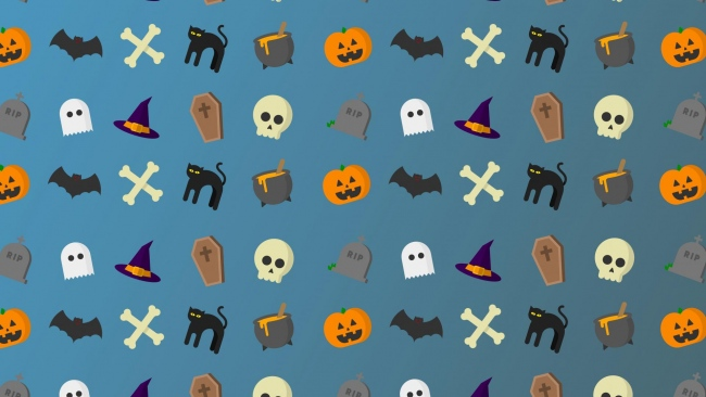 hd hintergrundbilder schädel knochen halloween art