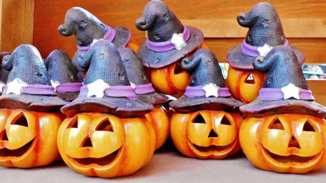 hd hintergrundbilder spielzeug kürbis hut halloween
