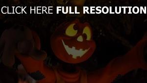 halloween cartoon baum licht augen figur