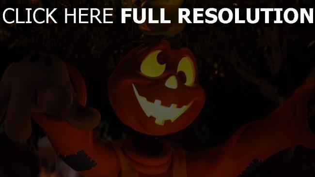 hd hintergrundbilder halloween cartoon baum licht augen figur