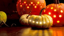 halloween girlanden kürbis