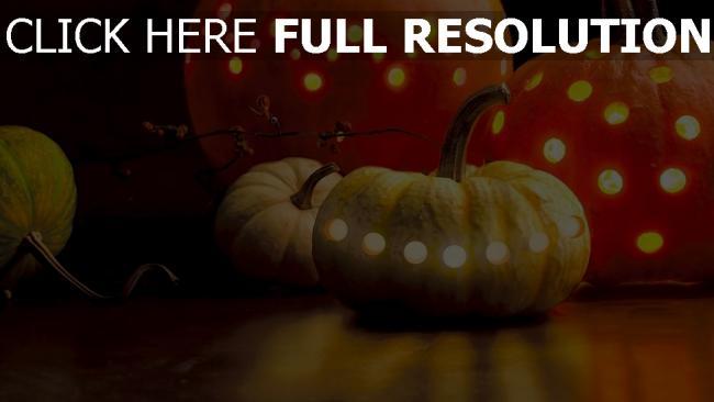 hd hintergrundbilder halloween girlanden kürbis