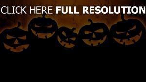 minimalismus halloween dunkel jack-o-lantern