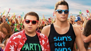 22 jump street jonah hill channing tatum party strand