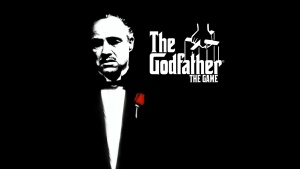 godfather marlon brando grafik schwarzes blume