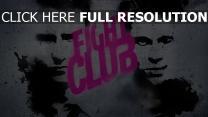 fight club edward norton brad pitt gesichter grafik