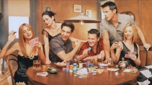 joey tribbiani poker rachel green chandler bing phoebe buffay monica geller ross geller chips treffen friends
