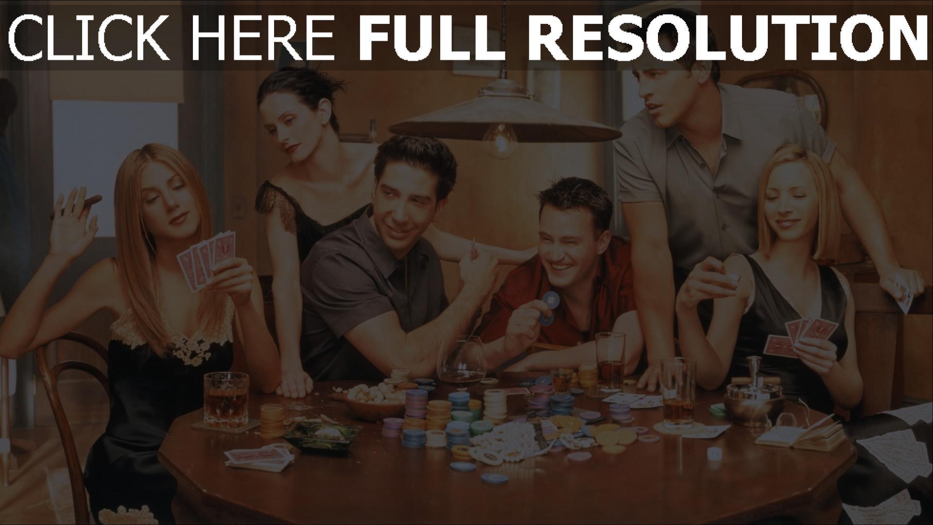 Hd Hintergrundbilder Joey Tribbiani Poker Rachel Green Chandler Bing