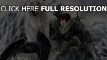 rabe game of thrones das lied von eis und feuer jon snow