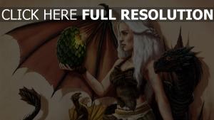 malerei daenerys targaryen emilia clarke game of thrones