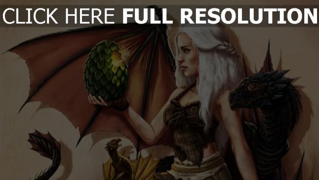 hd hintergrundbilder malerei daenerys targaryen emilia clarke game of thrones