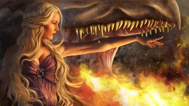 hd hintergrundbilder drachen game of thrones blond daenerys targaryen flamme kiefer mädel