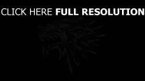 wolf game of thrones logo haus stark emblem