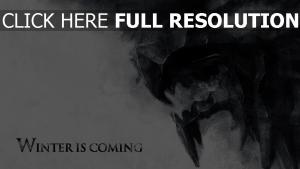 haus stark game of thrones malerei winter kommt