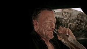 michael rooker zombie lachen the walking dead flasche merle dixon
