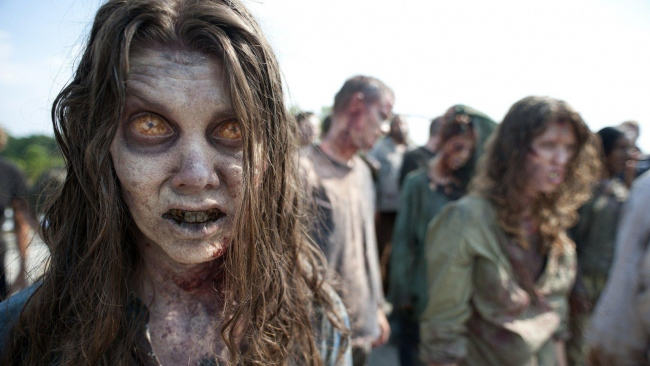 hd hintergrundbilder zombie gesicht the walking dead