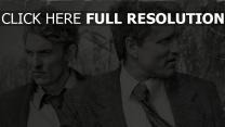 matthew mcconaughey schwarz-weiß woody harrelson true detective