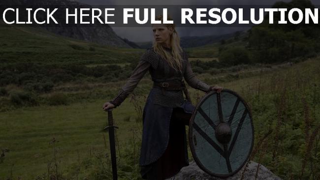 hd hintergrundbilder schwert historisches drama lathgertha schild tv-serie vikings katheryn winnick natur