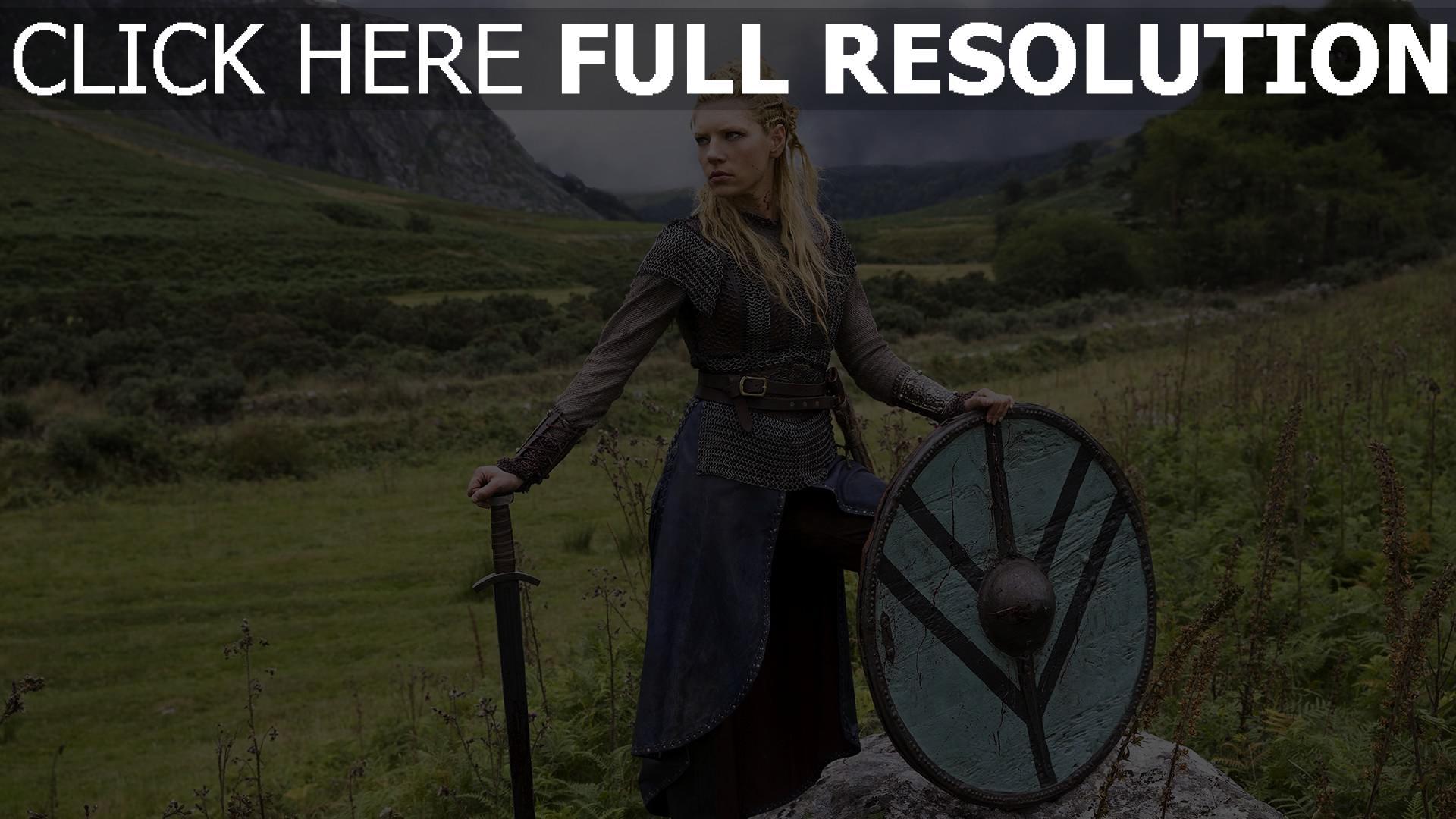 hd hintergrundbilder schwert historisches drama lathgertha schild tv-serie vikings katheryn winnick natur 1920x1080