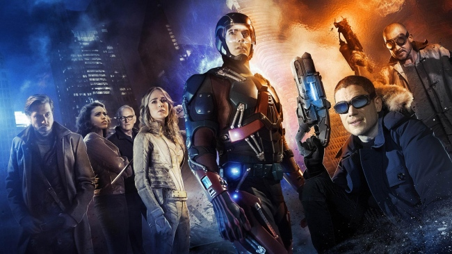 hd hintergrundbilder legends of tomorrow caity lotz brandon routh franz drameh victor garber arthur darvill