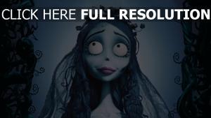 corpse bride lächeln emily mädel braut gesicht