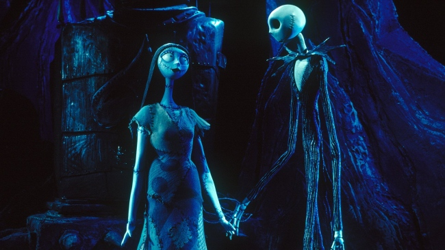 hd hintergrundbilder jack skellington nightmare before christmas sally paar