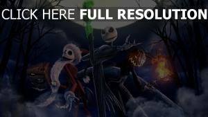 weihnachtsmann mond nightmare before christmas jack skellington