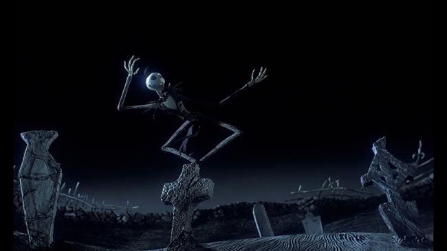 hd hintergrundbilder jack skellington nightmare before christmas friedhof