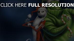 weihnachten weihnachtsmann oogie boogie jack skellington nightmare before christmas malerei