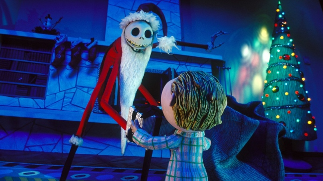 hd hintergrundbilder weihnachten geschenk jack skellington nightmare before christmas weihnachtsmann