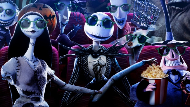 hd hintergrundbilder jack skellington nightmare before christmas sally kino