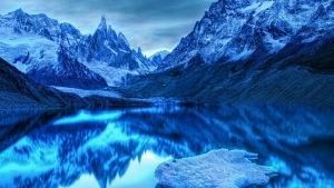 berge felsen schnee winter kalt see