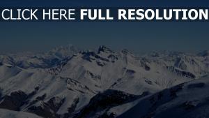 alpen felsen schnee berge bergspitzen himmel