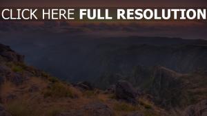 berge felsen sonnenuntergang wolken höhe